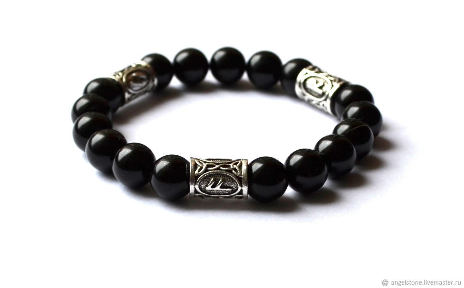 Charms, Talismans & Amulets handmade. Livemaster - handmade. Buy Bracelet made of Morion with the runes Magic power.
