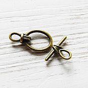 Материалы для творчества handmade. Livemaster - original item Locking clasp to jewelry toggle Bronze (art. 1846). Handmade.