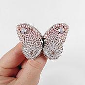 Украшения handmade. Livemaster - original item Brooch Butterfly pink with gradient effect, Ombre. Handmade.