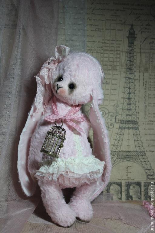 """Мишки Тедди ручной работы. Ярмарка Мастеров - ручная работа. Купить """"Нежность в кружевах..."""". Handmade. Бледно-розовый, фатин"""