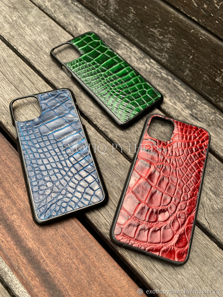 Crocodile leather cases for iPhone 11 and 12, Case, Moscow,  Фото №1