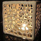 """Подсвечники ручной работы. Ярмарка Мастеров - ручная работа Оригинальный подсвечник """"Снежный куб"""". Handmade."""