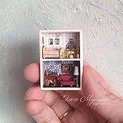 Куклы и игрушки ручной работы. Ярмарка Мастеров - ручная работа Микродомик в спичечном коробке. Handmade.