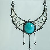 Украшения handmade. Livemaster - original item Lunnitsa - suspension. Three tears of the turquoise Cyclops (pl-026). Handmade.