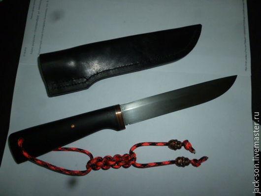 Быт ручной работы. Ярмарка Мастеров - ручная работа. Купить Нож кованый. Handmade. Черный, кожа