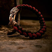 Украшения handmade. Livemaster - original item Raven bracelet paracord. Handmade.