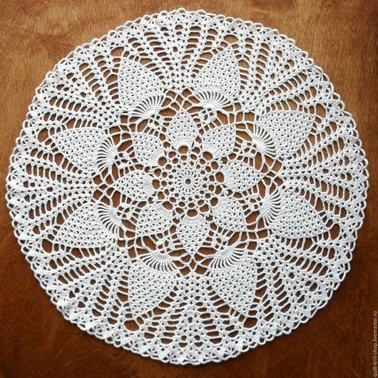 Текстиль, ковры ручной работы. Ярмарка Мастеров - ручная работа. Купить Белая салфетка крючком. Handmade. Салфетка крючком