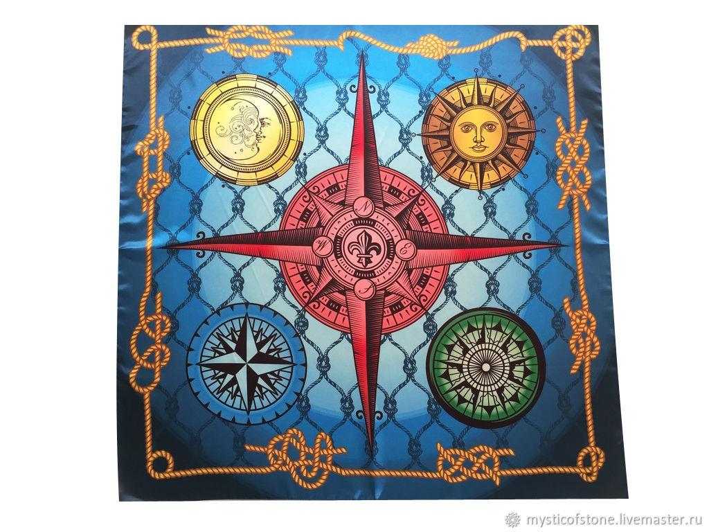 Handkerchief Shawl Cape wind rose Blue ocean, Ritual attributes, Moscow,  Фото №1