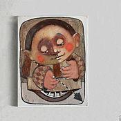 Картины и панно ручной работы. Ярмарка Мастеров - ручная работа Принт на холсте по картине Хранитель. Handmade.