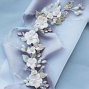 Свадебный салон ручной работы. Ярмарка Мастеров - ручная работа Веточка с нежно розовыми цветочками. Handmade.