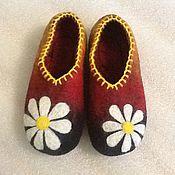 """Обувь ручной работы. Ярмарка Мастеров - ручная работа Тапочки """" ромашка"""". Handmade."""