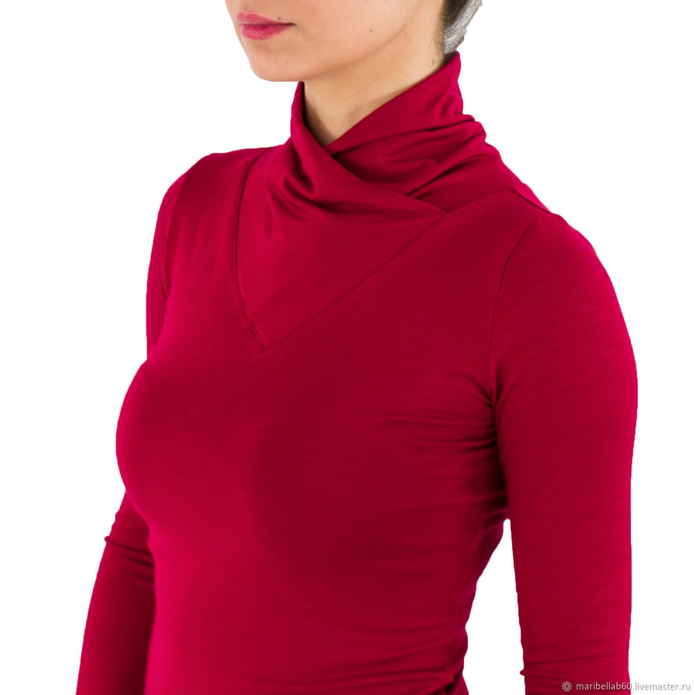 Shirt: Red Polo shirt blouse Womens top 'ITALIA', Shirts, Sofia,  Фото №1