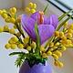Подарки на Пасху ручной работы. Пасхальная композиция Яркая весна. Татьяна 'Magic of  Flowers'. Ярмарка Мастеров. Разноцветный