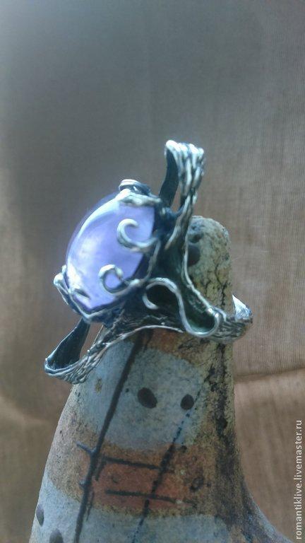 """Кольца ручной работы. Ярмарка Мастеров - ручная работа. Купить Перстень """" Нептун"""" с натуральным Аметистом в серебре. Handmade. Фиолетовый"""