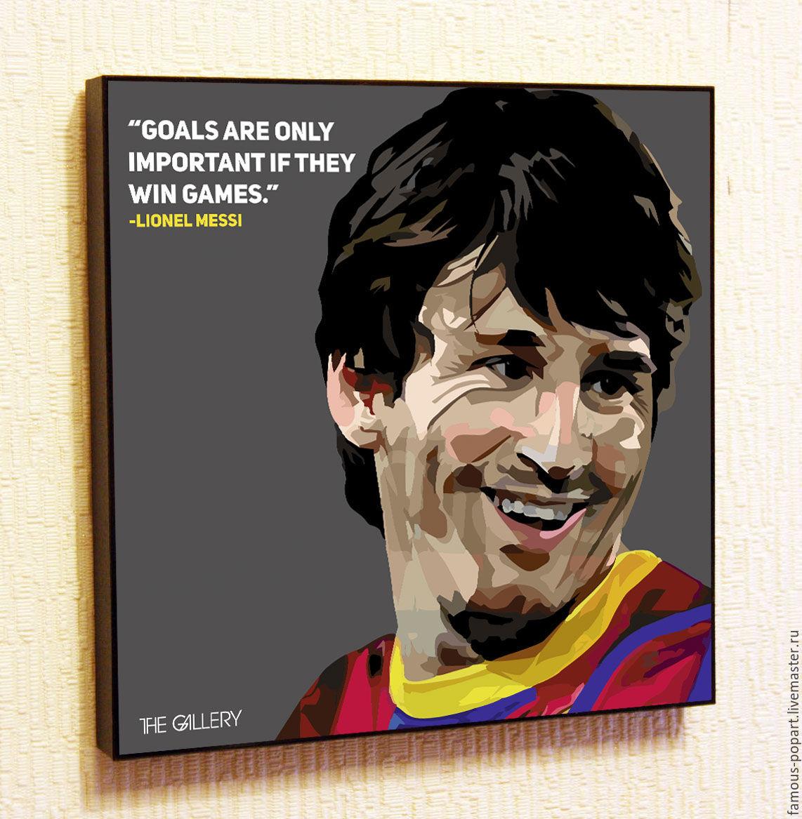 Painting Pop Art Messi Barcelona, Fine art photographs, Moscow,  Фото №1