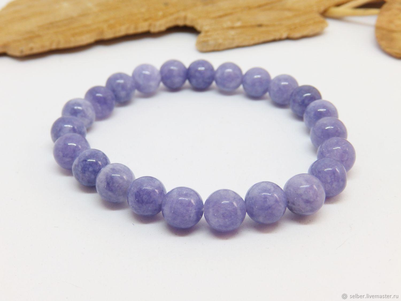 Bracelet of anhydrite Lilac haze, Bead bracelet, Gatchina,  Фото №1
