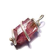 Pendants handmade. Livemaster - original item Pendant crystal pink tourmaline. Handmade.