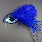 Украшения handmade. Livemaster - original item Brooch BIRD of PARADISE seed beads, glass beads, silk, straw, pearls. Handmade.