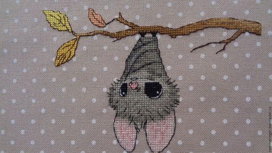 Ежедневники ручной работы. Ярмарка Мастеров - ручная работа. Купить ткань  с вышивкой  для обложки альбома летучая мышь. Handmade. карман