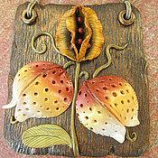 Для дома и интерьера ручной работы. Ярмарка Мастеров - ручная работа Мини-панно Экзотический цветок. Handmade.