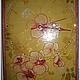 Часы золотистые с орхидеями...
