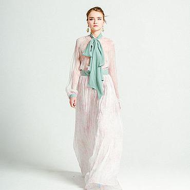 Одежда ручной работы. Ярмарка Мастеров - ручная работа Сакура - шелковое платье в пол. Handmade.