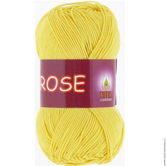 Вязание ручной работы. Ярмарка Мастеров - ручная работа. Купить Пряжа ROSE Vita cotton Хлопок мерсеризованный Роза Вита коттон. Handmade.