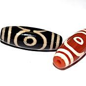 Материалы для творчества handmade. Livemaster - original item Tibetan Dzi bead 3 eyes Magical beads. Nepal. Handmade.