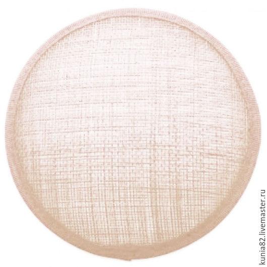Основа для шляпки, вуалетки, синамей, диаметр 11 см. Цвет: АЙВОРИ, полуфабрикат для изготовления шляп и головных уборов. Анна Андриенко. Ярмарка