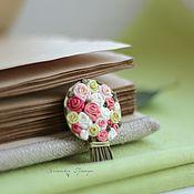 Украшения ручной работы. Ярмарка Мастеров - ручная работа Розовый букет. Брошь. Handmade.