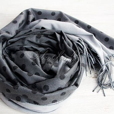 Accessories handmade. Livemaster - original item Cashmere gray double-sided stole