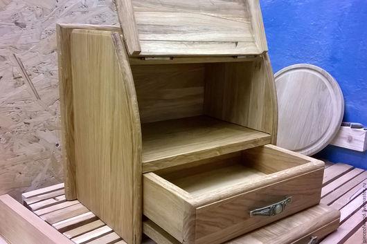 Кухня ручной работы. Ярмарка Мастеров - ручная работа. Купить Хлебница из дерева. Handmade. Коричневый, хлебница деревянная, массив дуба