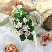handmade. Livemaster - original item Headband with roses
