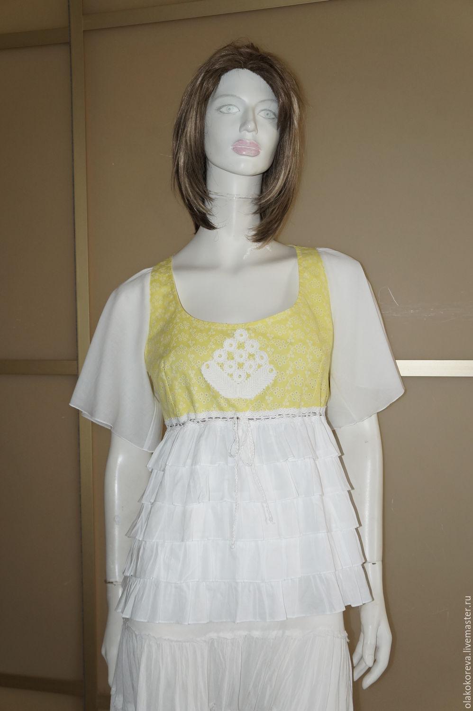 Блузки желтого цвета купить