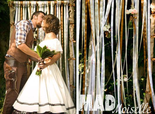 Платья ручной работы. Ярмарка Мастеров - ручная работа. Купить Ковбойская Невеста. Handmade. Однотонный, ковбойский стиль, пошив одежды