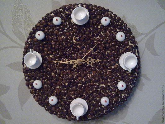 """Часы для дома ручной работы. Ярмарка Мастеров - ручная работа. Купить Часы настенные """"Кофе хауз"""". Handmade. Часы настенные"""
