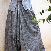 Одежда ручной работы. Ярмарка Мастеров - ручная работа Мужские и женские Aфгани серые в клетку. Handmade.