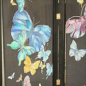 """Для дома и интерьера ручной работы. Ярмарка Мастеров - ручная работа Ширма """"Ночные бабочки"""". Handmade."""