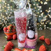 handmade. Livemaster - original item Set of cosmetics for the face gift Strawberry. Handmade.