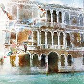 Картины и панно handmade. Livemaster - original item watercolor-Birds of Venice. Handmade.