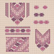 """Материалы для творчества handmade. Livemaster - original item Дизайны машинной вышивки """"Мозаика_2"""" набор для женской вышиванки. Handmade."""