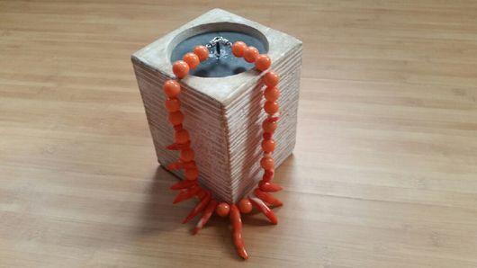 """Колье, бусы ручной работы. Ярмарка Мастеров - ручная работа. Купить Колье"""" Коралловые мечты"""". Handmade. Колье, коралл"""