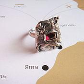 Украшения ручной работы. Ярмарка Мастеров - ручная работа Кольцо из серебра с родолитом. Handmade.