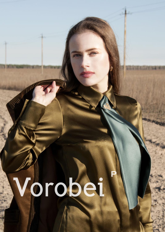 Women's shirt. Silk shirt. Silk blouse, Blouses, Moscow,  Фото №1