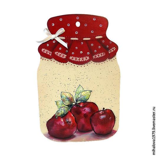 Кухня ручной работы. Ярмарка Мастеров - ручная работа. Купить Доска Разделочная Декоративная «Наливные яблочки» Декупаж. Handmade.