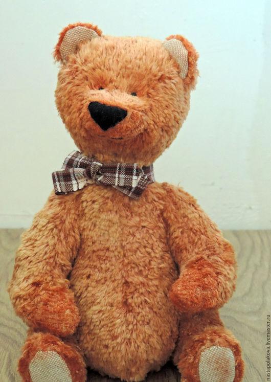 Мишки Тедди ручной работы. Ярмарка Мастеров - ручная работа. Купить Мишка Тедди Медок. Handmade. Оранжевый, плюш винтажный