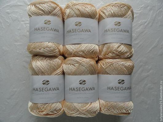 Вязание ручной работы. Ярмарка Мастеров - ручная работа. Купить Пряжа Hasegawa ANEMONE № 661 CREAM YELLOW. Handmade.