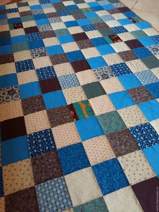 Текстиль, ковры ручной работы. Ярмарка Мастеров - ручная работа. Купить Лоскутное одеяло. Handmade. Синий, интерьер, хлопок, ситец