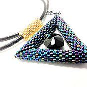 """Украшения handmade. Livemaster - original item Beaded pendant """"Star kaleidoscope"""". Handmade."""