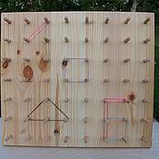 Куклы и игрушки ручной работы. Ярмарка Мастеров - ручная работа Геоборд - Математический планшет. Handmade.